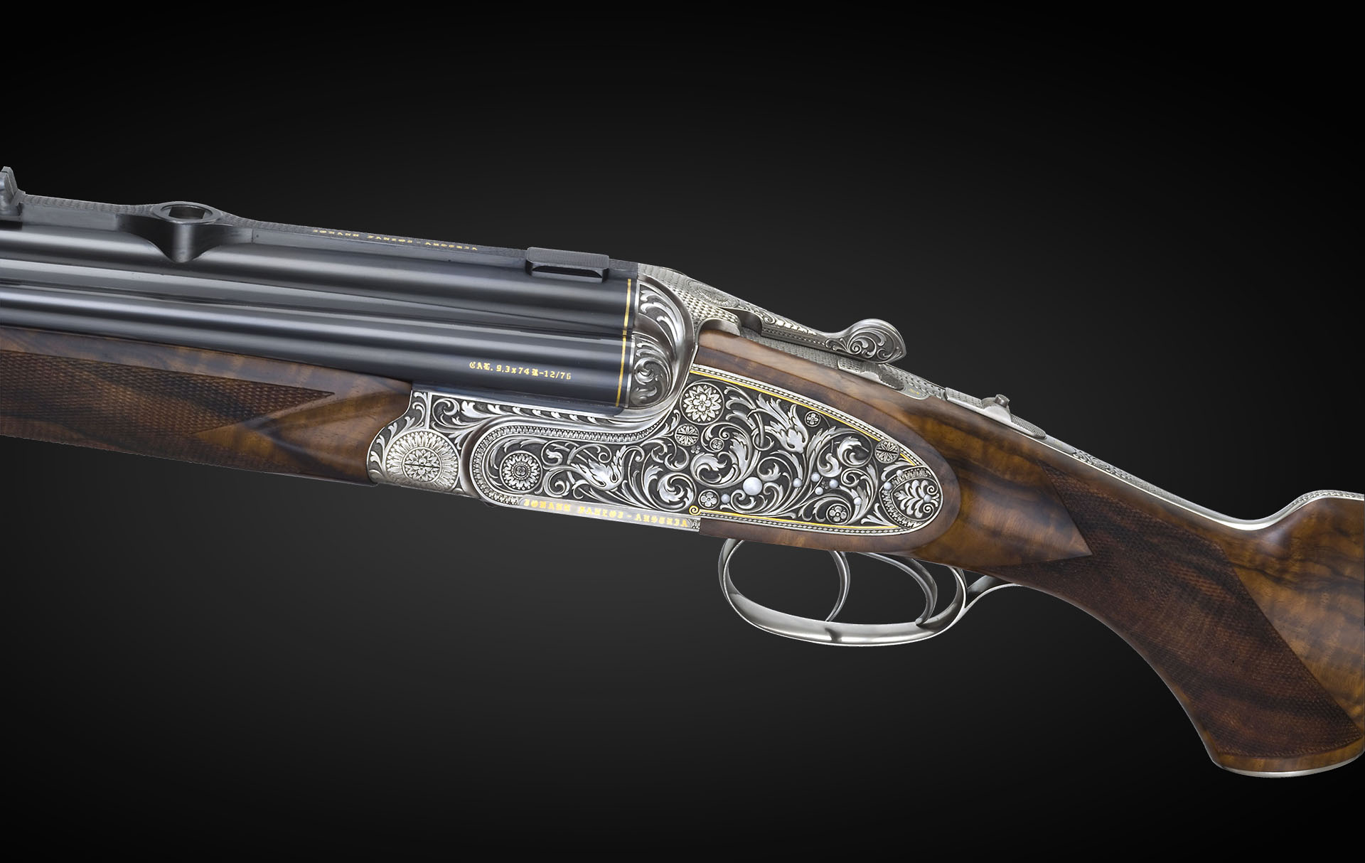 vierling a four barrelled rifle shotgun johann fanzoj