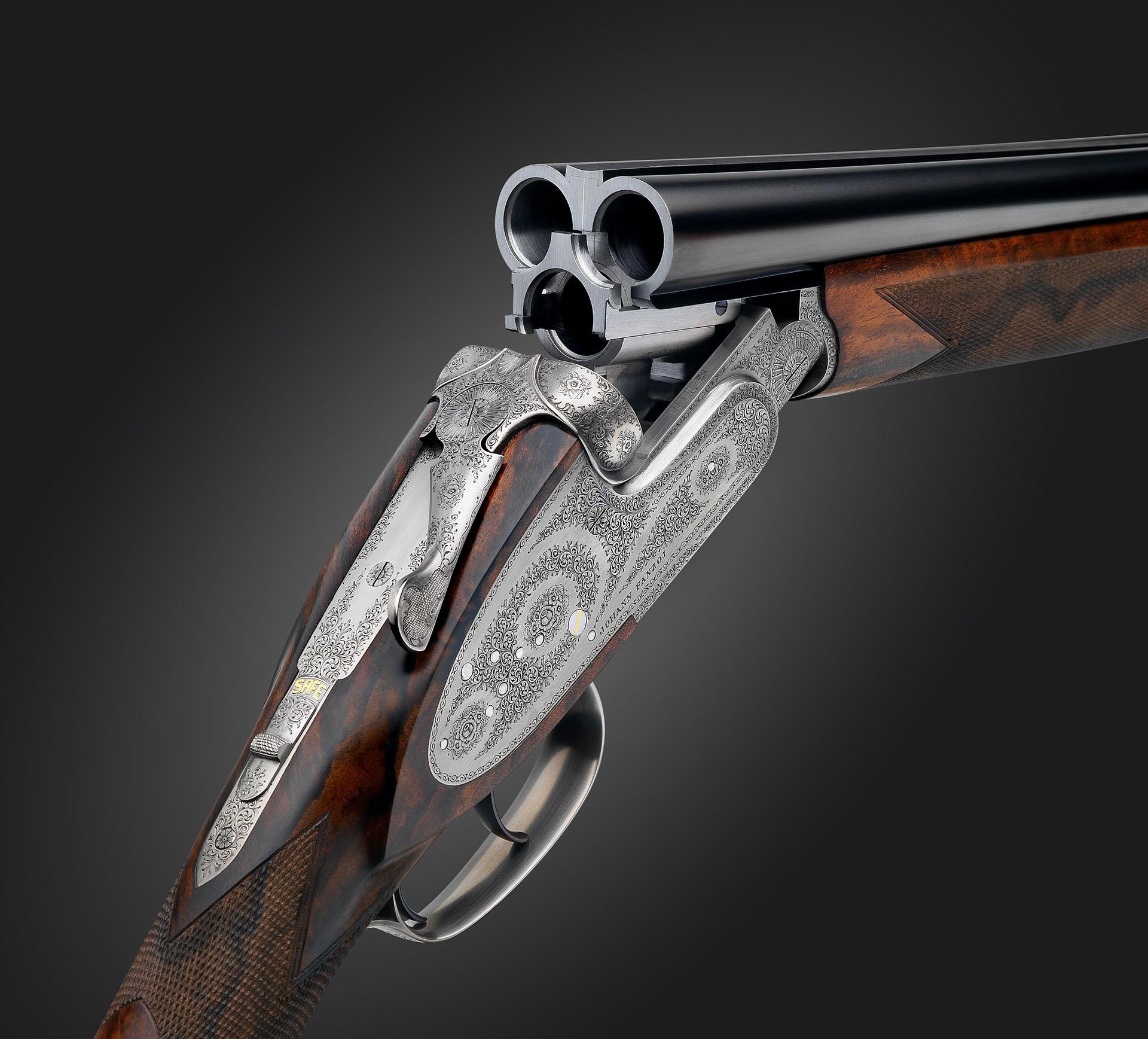 The triple shotgun johann fanzoj a triple barrel gun that shoots with the ease of a double thecheapjerseys Images